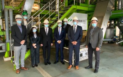 Honoured guests from India at Chempolis Biorefinery Park